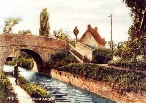 Deanshanger Bridge Postcard c1936