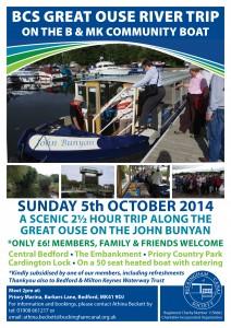 BCS Poster - BCS Great Ouse River Trip 2014 - A4