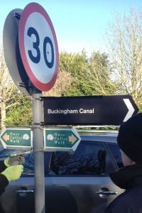 canal sign Burliegh Piece 3