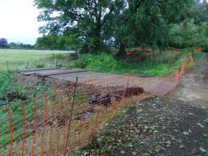 Cosgrove temporary farm crossing complete.